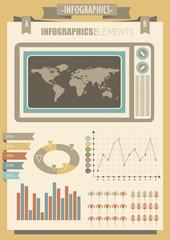 Vintage infographics elements for design