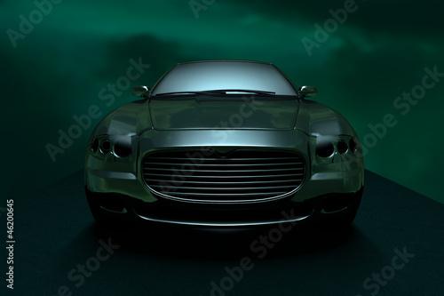 A car in the dark