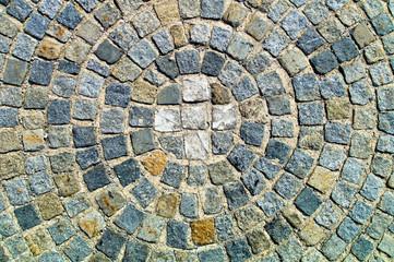 Pflastersteine mit Kreis