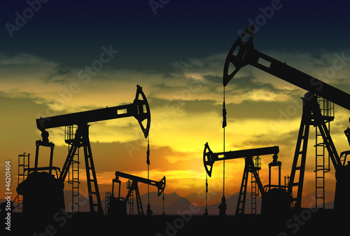 oil pumpjack in operation