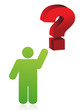 icon pointing a question mark illustration design