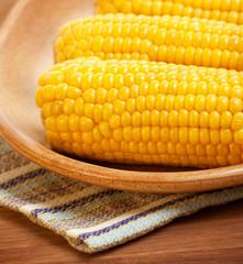 Sweetcorn on the plate