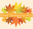 vector background with fall leaves