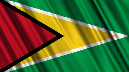 Guyana Flag looping animation