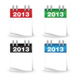 calendrier mensuel picto année 2013