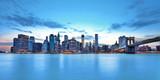 Skyline de New York et Brooklyn bridge. - Fine Art prints