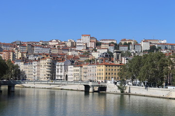 Lyon, la Croix Rousse, coté Saône