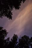 Fototapete Lila - Raum - Nacht