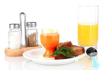 Light Breakfast isolated on white