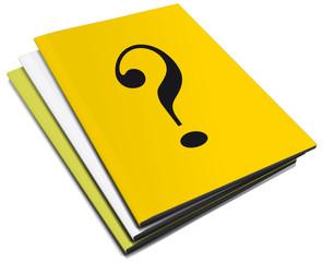 Tre manuali con punto interrogativo
