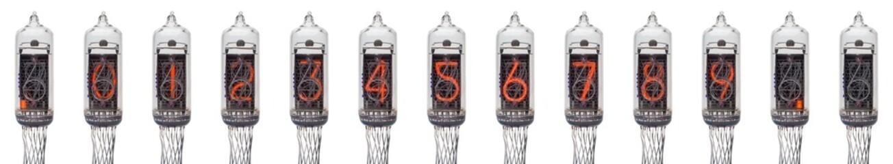 ニキシー管 0〜9とドット(左、右) のセット