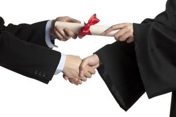 giving diploma