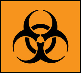 Biohazard symbol sign orange