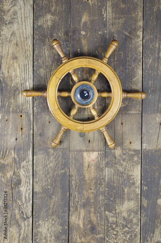 steering wheel of sailing-ship