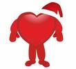 santa - red heart