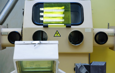 Equipment for production of radioactive injections at hospital