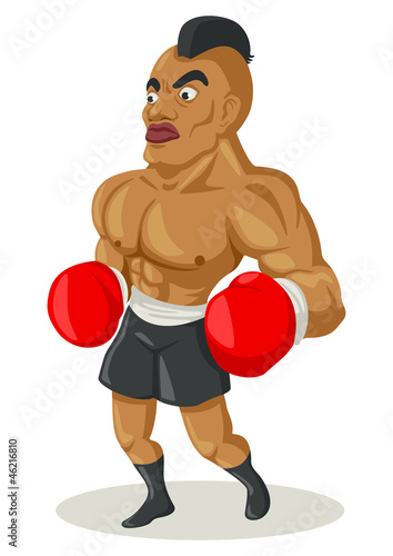Cartoon illustration of a boxer