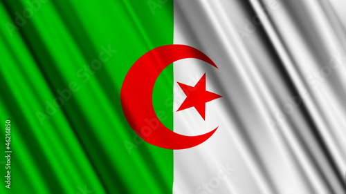 Algeria Flag looping animation