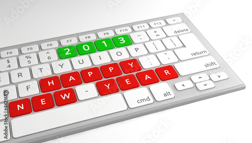 Happy New Year wishes 2013 keyboard