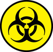 Biohazard circle sign