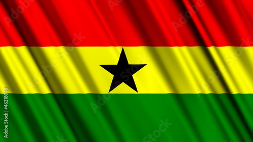 Ghana Flag looping animation