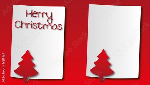 paper with christmas tree background