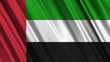 United Arab Emirates Flag looping animation