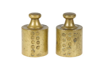 Old brass antique weights, Holland