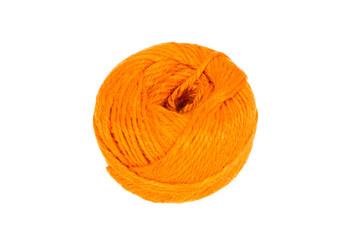 Knitting yarn isolated on a white background