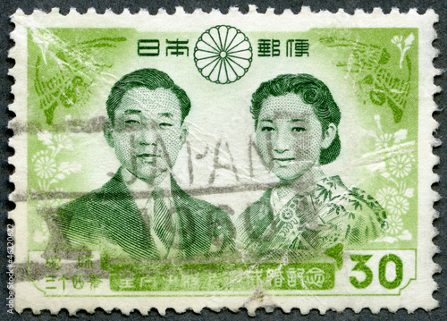 JAPAN - 1959: shows Prince Akihito and Princess Michiko