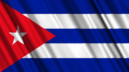 Cuba Flag looping animation