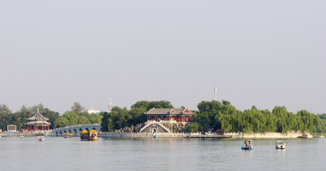 architecture of summer palace in Beijing