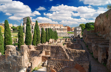 View of the Colosseum from the Palatine Hill, Rome