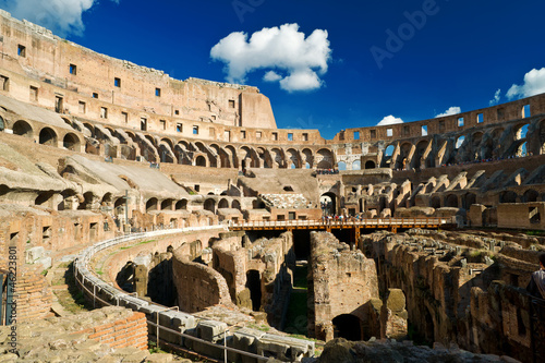 Inside of Colosseum in Rome