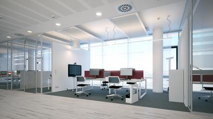 Schlichtes moderne Büro