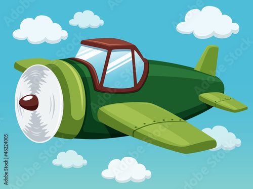 illustration of plane on sky