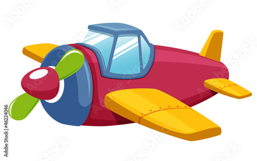 illustration of Toy plane Vector