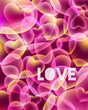 Abstract love background with hearts