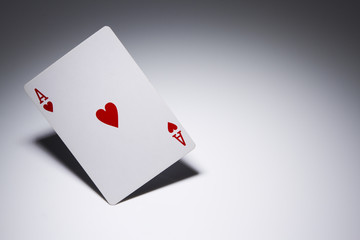 Balancing Ace of Hearts - Playing Card