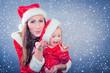 mutter und tochter zur weihnachten
