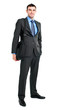 Full length businessman holding a laptop bag