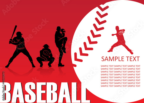 Baseball background - vector illustration