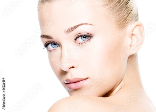 Beautiful woman with clean skin