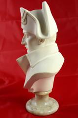 Buste Napoléon 1er empereur - profil albâtre