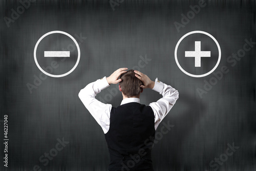 business concept with two symbols