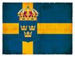 Grunge-Flagge Schweden