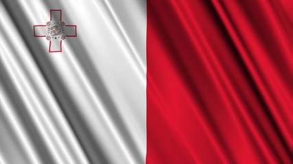 Malta Flag looping animation