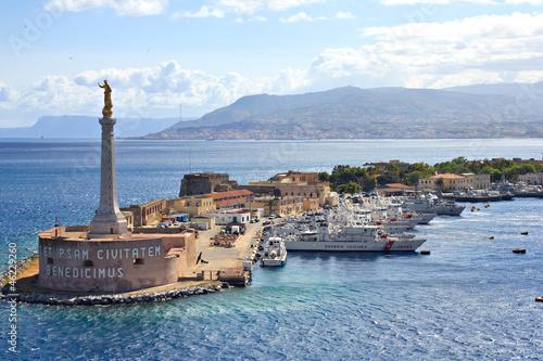 Leinwanddruck Bild Port of Messina, Sicily