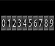 numbers on Airport Terminal timetable Display Font