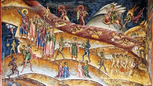 Leinwandbild Motiv Christian purgatory fresco